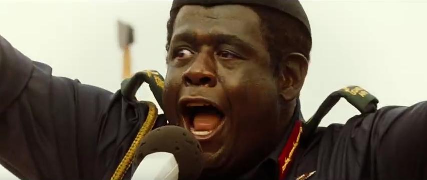 Idi Amin addresses admiring crowd